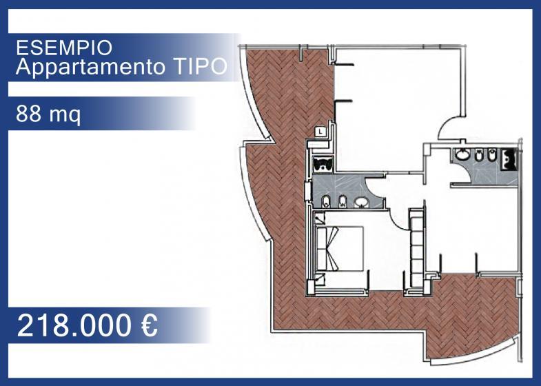 88 mq - 1° piano - € 218.000