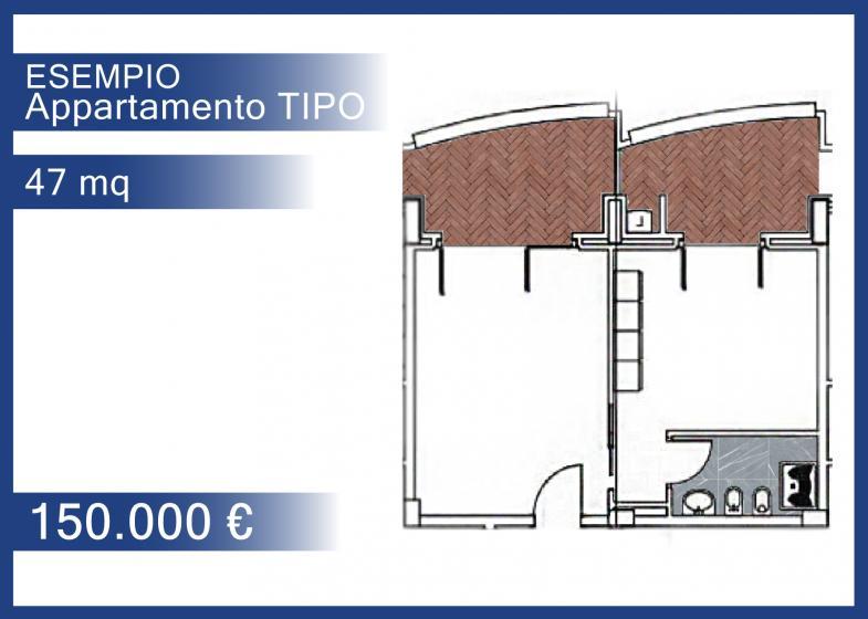 47 mq - 2° piano - € 150.000