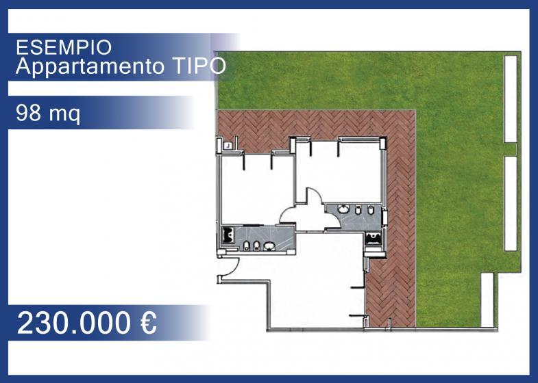 98 mq - piano terra - € 230.000