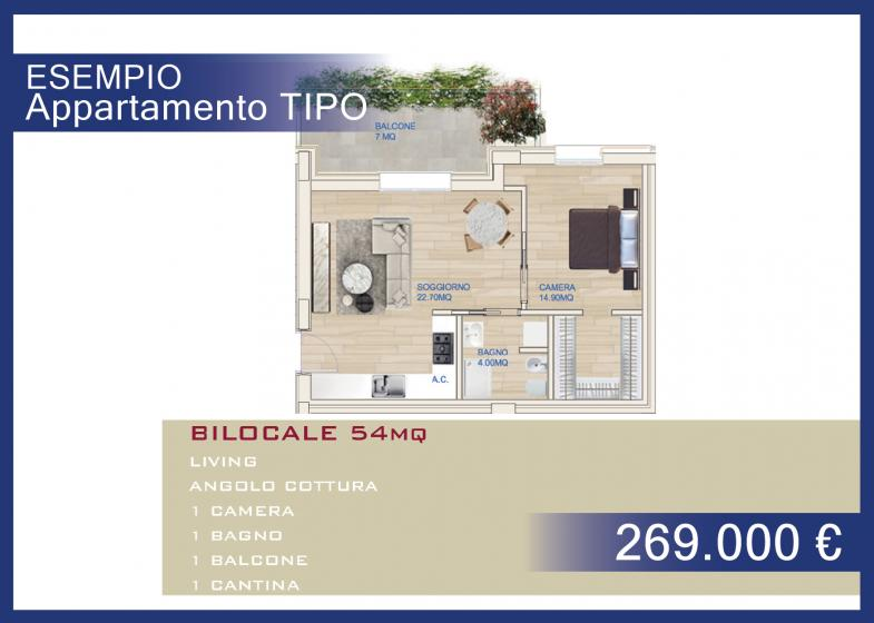 BILOCALE 54 MQ - € 269.000