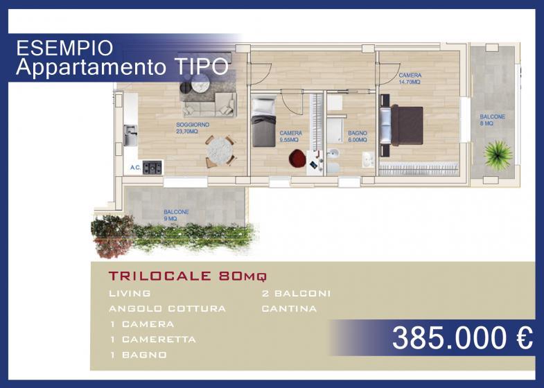 TRILOCALE 80 MQ - € 358.000