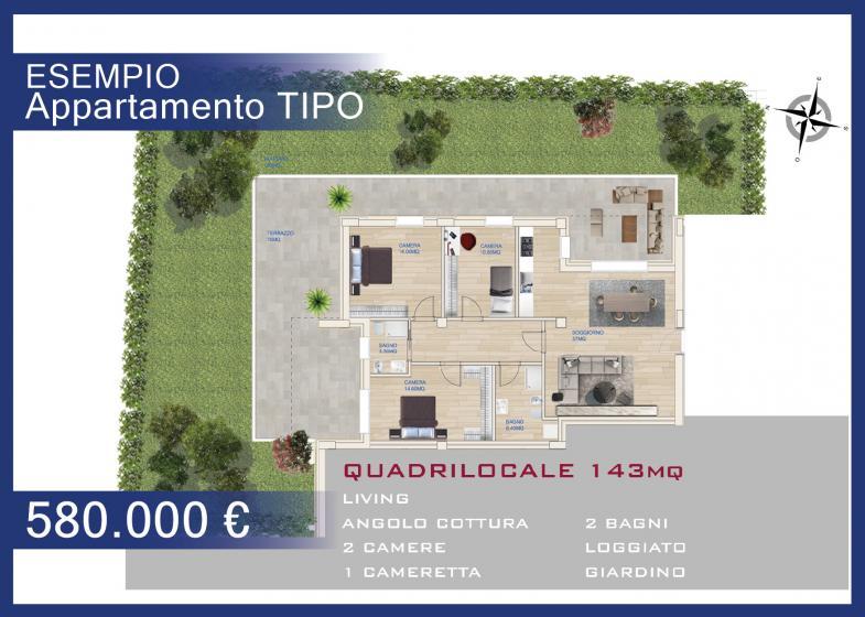 QUADRILOCALE 143 MQ - € 580.000